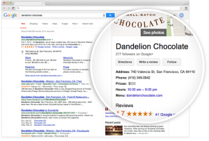 example of a Google My Business listing advertising to local customers